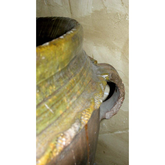19th Century Antique Guatemalan Large Ceramic Pot/Planter For Sale - Image 4 of 6