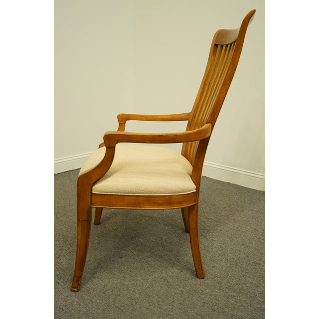 Late 20th Century Thomasville Furniture Cinnamon Hill Collection Mission Style Dining Arm Chair For Sale In Kansas City - Image 6 of 11
