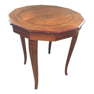 Handmade Italian Burled Walnut Side Table