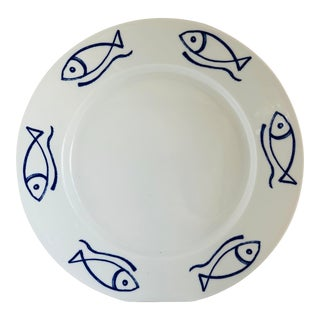 Contemporary Porcelain Fish Plate, Poland For Sale