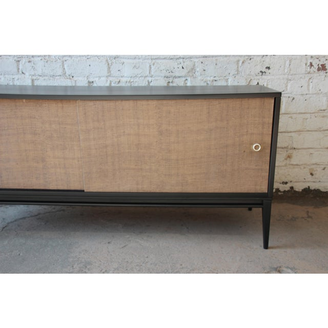 Planner Group Paul McCobb Planner Group Mid-Century Modern Ebonized Low Credenza For Sale - Image 4 of 11