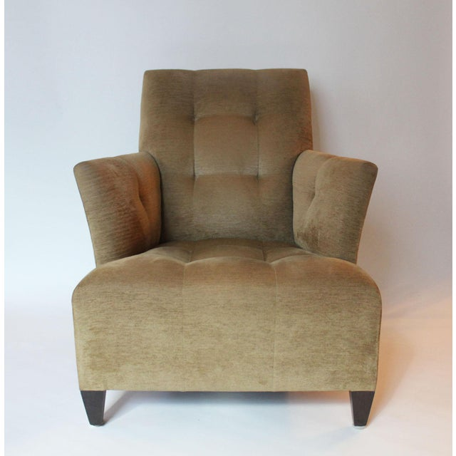 Early 21st Century Modern John Hutton for Donghia Eaton Tan Club Chair For Sale - Image 5 of 5