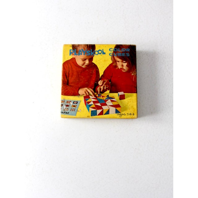 Playskool Color Cubes Toy Blocks Circa 1970 For Sale - Image 6 of 12