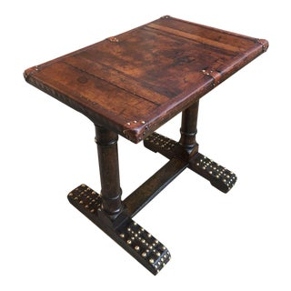 20th Century English Traditional Oak Writing Table For Sale