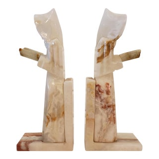 Vintage Onyx Book Ends For Sale