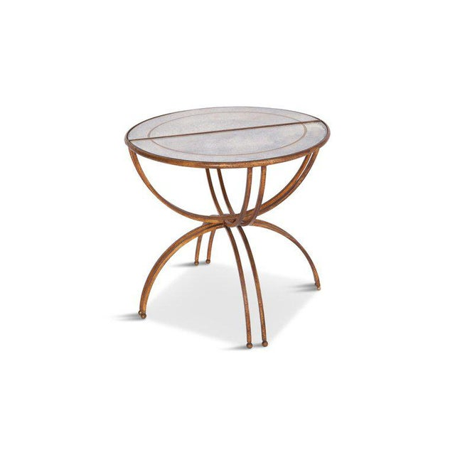 Gold Maison Baguès Demi-Lune Sidetables With Mirrored Glass Tops For Sale - Image 8 of 13