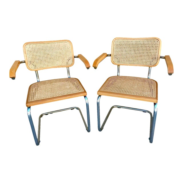 Classic Mid-Century Cesca Chairs - A Pair - Image 1 of 6