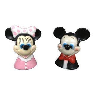 Vintage Disney Mickey and Minnie Chalkware Banks - a Pair For Sale