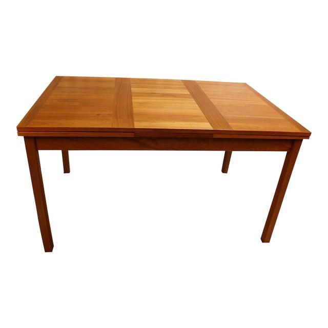 Danish Modern Teak Extendable Dining Table Vejle Stole Møbelfabrik For Sale