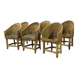 20th Century Empire Style Barrel Chairs - Set of 6