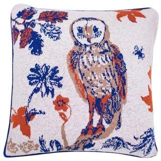 Mon Amie La Chouette Cashmere Pillow For Sale