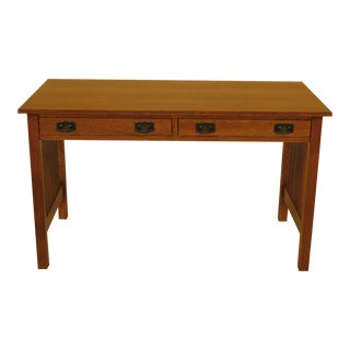 1990s Mission Stickley Writing Desk For Sale
