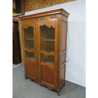 Country French Carved Cherry Bookcase / Linen Cabinet Preview