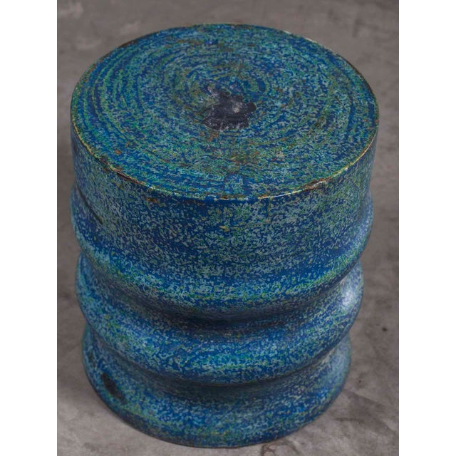 Modern Modern Hand Painted Lychee Tree Round Trunk Stool Table From Indonesia For Sale - Image 3 of 8