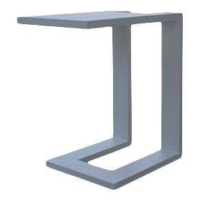 Vesta Ludo Outdoor Side Table in Grey For Sale