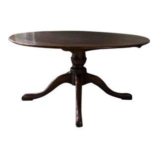 Swedish Gustavian Walnut Snake Foot Dining Table