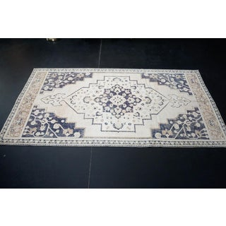 Vintage Turkish Oushak Gray Rug-4'4 X 9'2 Preview