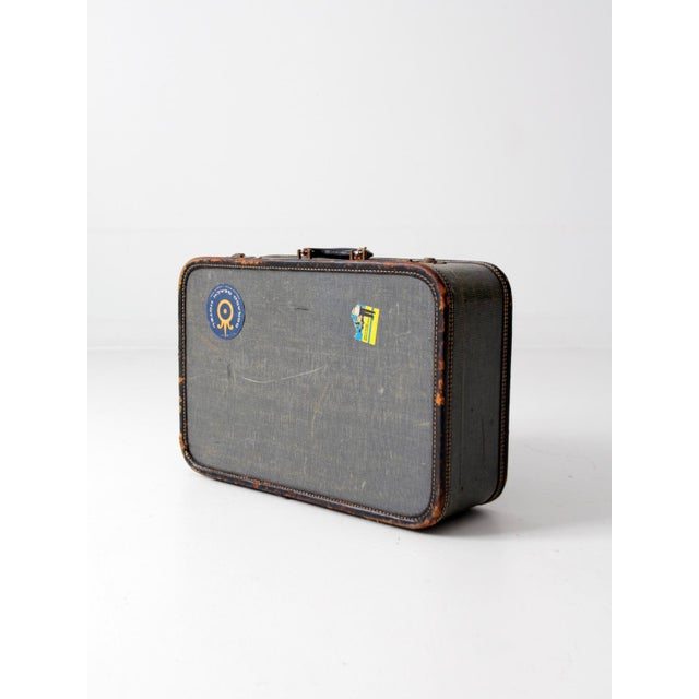 Vintage Suitcase With Travel Stickers - Image 5 of 7