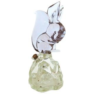 Archimede Seguso Alabastro Murano Squirrel Decanter Bottle - 50th Anniversary Sale For Sale