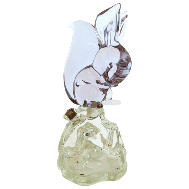 Archimede Seguso Alabastro Murano Squirrel Decanter Bottle - Image 1 of 7