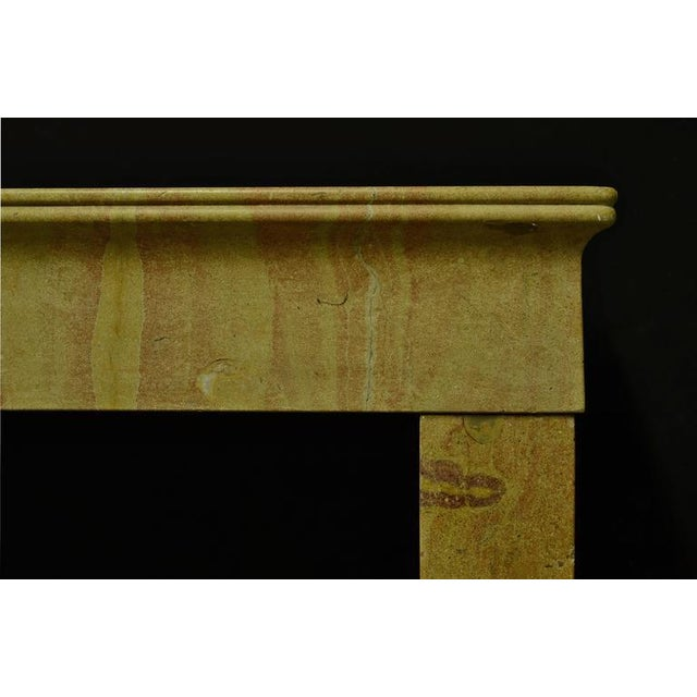 Mid 19th Century 19th Century Antique French Limestone Fireplace Mantel For Sale - Image 5 of 6