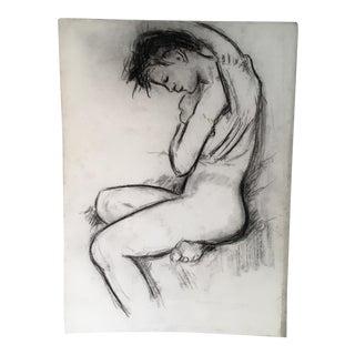 Black & White Pastel Nude Drawing