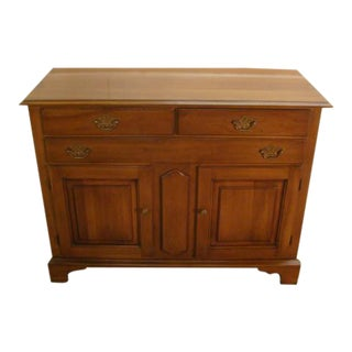 1980s Traditional Statton Solid Cherry Sideboard For Sale