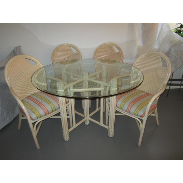 McGuire Vintage Hollywood Regency Bamboo Dining Set For Sale - Image 13 of 13