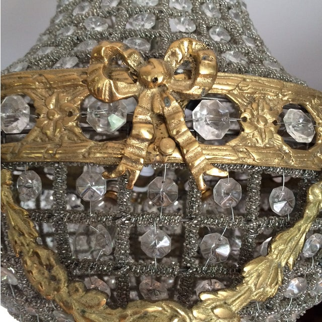 Empire Chandelier With Brass Detail - Image 3 of 6