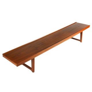 Torbjörn Afdal for Bruksbo Long Low Teak Plank Bench For Sale