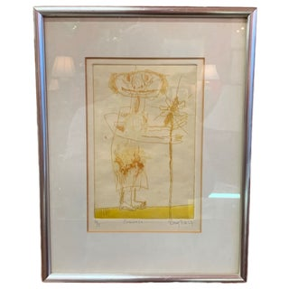 1960s Vintage Fernando Ramos Prida Etching For Sale