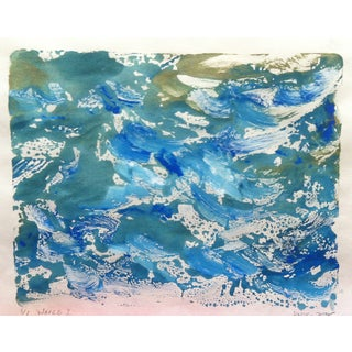 Waves II Monotype Ink on Mulberry Paper
