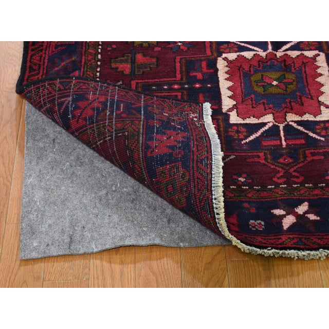 Shahbanu Rugs Northwest Persian Heriz Wool Hand-Knotted Runner- 3′10″ × 11′6″ For Sale - Image 4 of 8