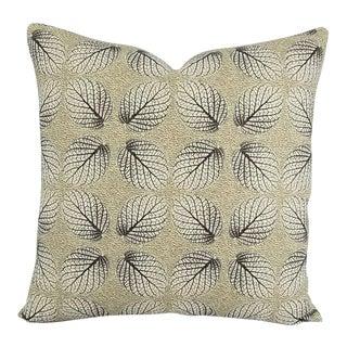 George Spencer Leaf Trellis Gold Pillow Cover For Sale