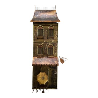 "Curtis Jere ""Parisian House & Cafe / Bistro"" Brass & Copper Wall Sculpture For Sale"