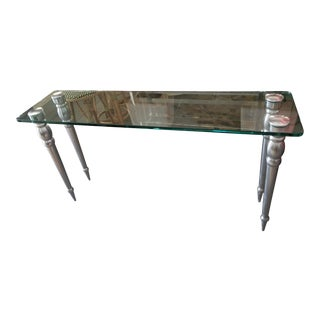 Art Deco Glass Console Table For Sale