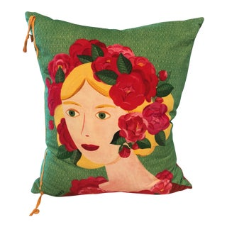 Custom Made French Flower Girl Pillow For Sale