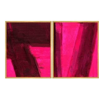 Turandot Diptych Art Print in Walnut Frame For Sale