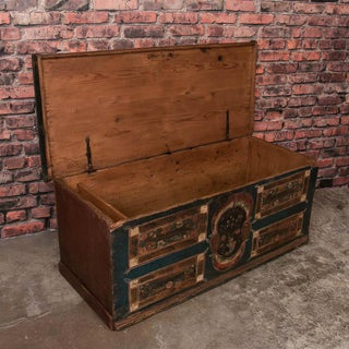 19th Century Antique Flat Top Trunk From Hungary Preview