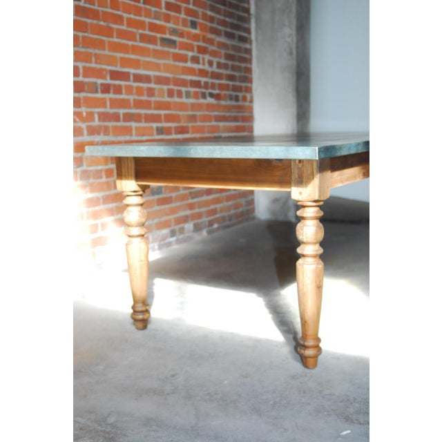Zinc Topped Farm Table - Image 6 of 11