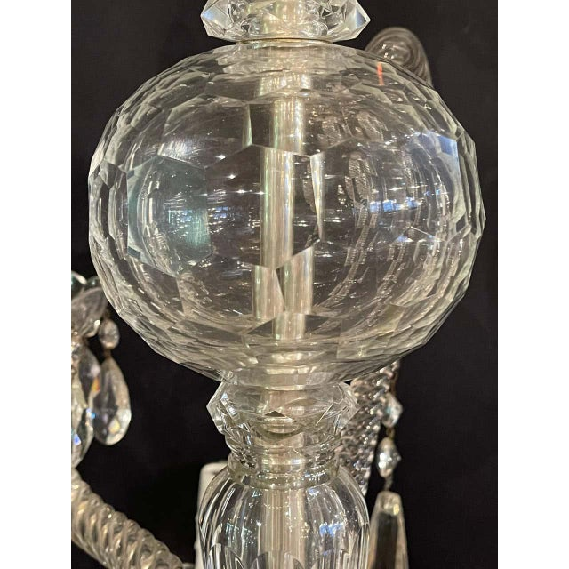 Transparent Fine Cut Crystal Venetian Style Chandelier For Sale - Image 8 of 13