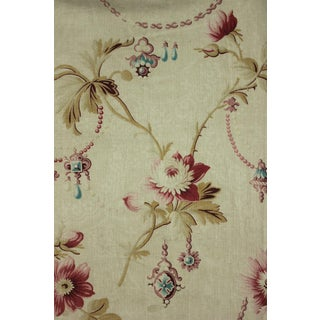Floral Fabric Daybed Cover Antique French Belle Epoque Jewels & Floral Design For Sale