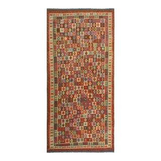 Kilim Arya Darron Red & Blue Wool Rug - 8′1″ × 16′6″ For Sale