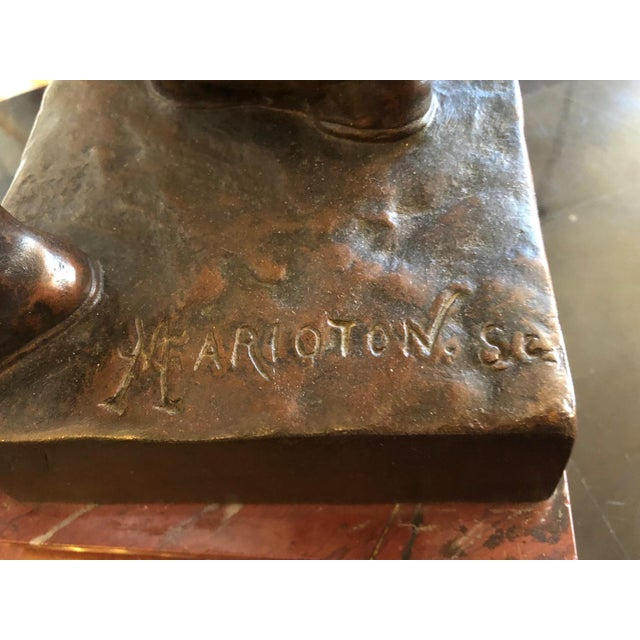 Figurative 1880s Claudius Marioton The Venetian Bronze Table Top Sculpture For Sale - Image 3 of 12