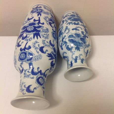 Asian Chinoiserie Blue & White Vase Collection - 4 Pc. For Sale - Image 3 of 8