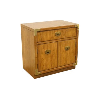 Thomasville Furniture Passport Collection Campaign Style Cabinet Nightstand For Sale