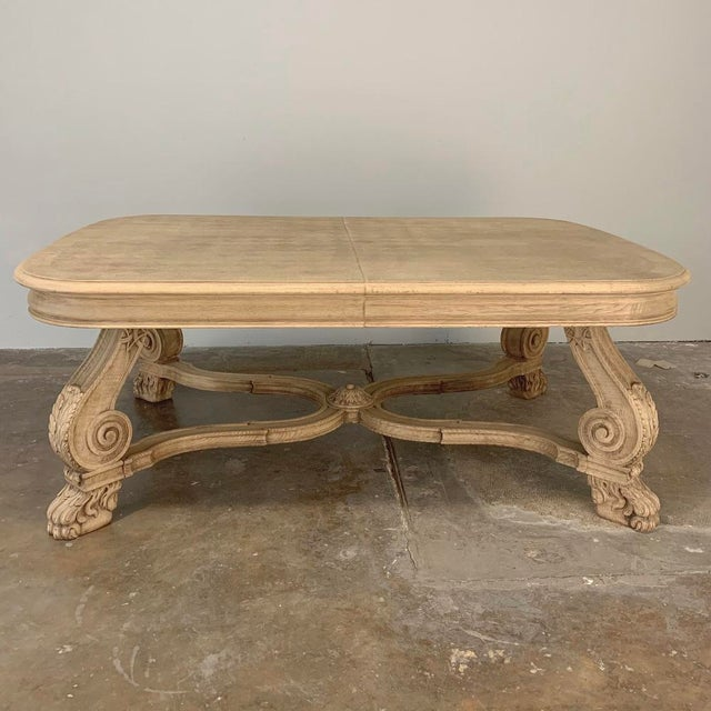 Antique Louis XIV Stripped Parquet Coffee Table For Sale - Image 4 of 13