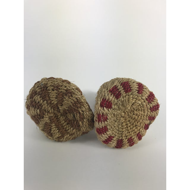 1960s Vintage African Woven Maracas - a Pair For Sale - Image 5 of 7
