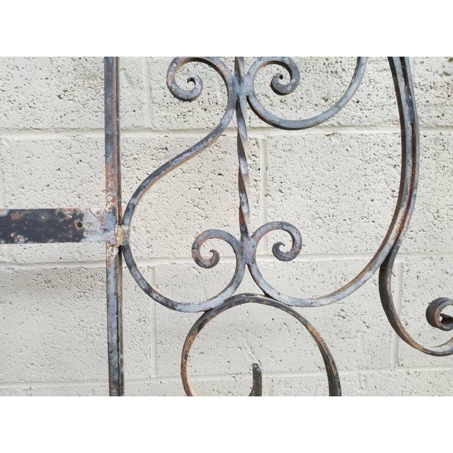 Architectural Iron Panels - a Pair For Sale - Image 5 of 10