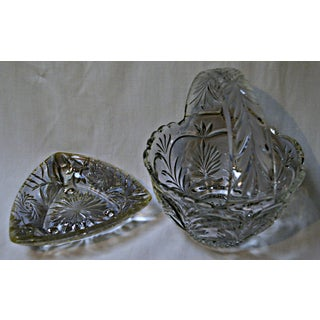 Lead Glass Basket & Ashtray - A Pair Preview